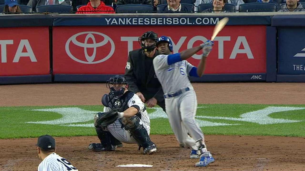 Cain's solo home run