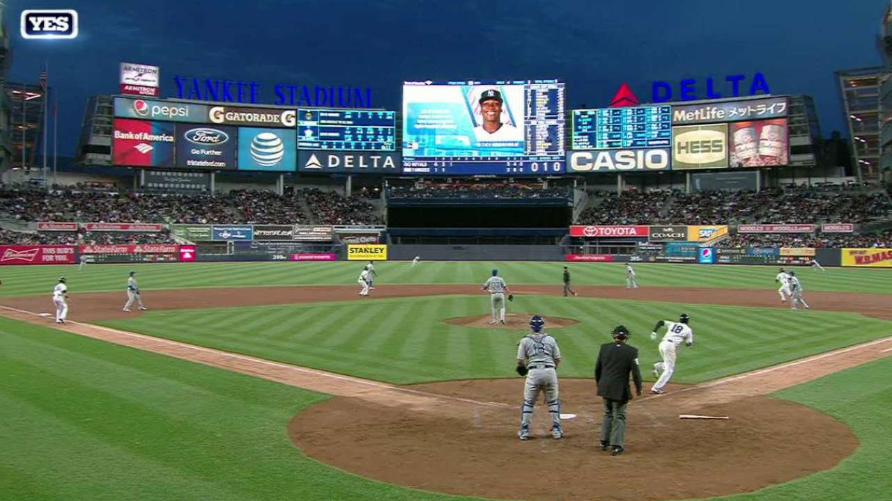 Gregorius' bases-clearing double