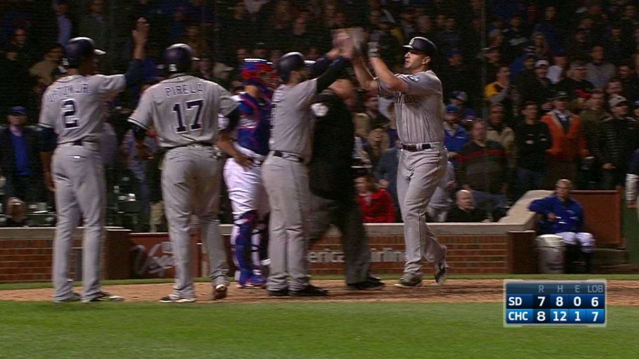With slam, Dickerson makes Padres history