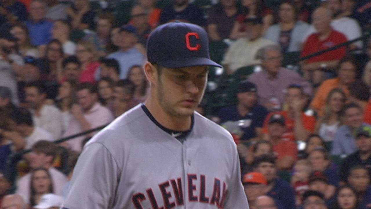 Bauer zeroed in as Indians blank Astros