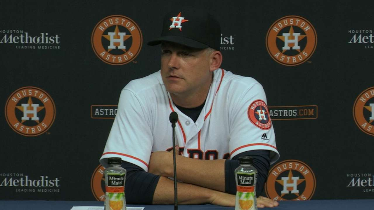 Hinch on 4-0 loss to Indians