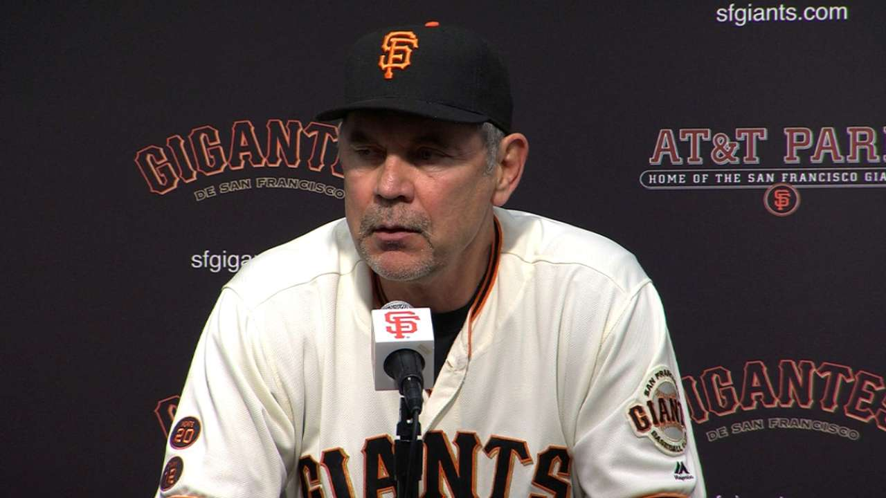 Bochy on 4-0 loss to Blue Jays