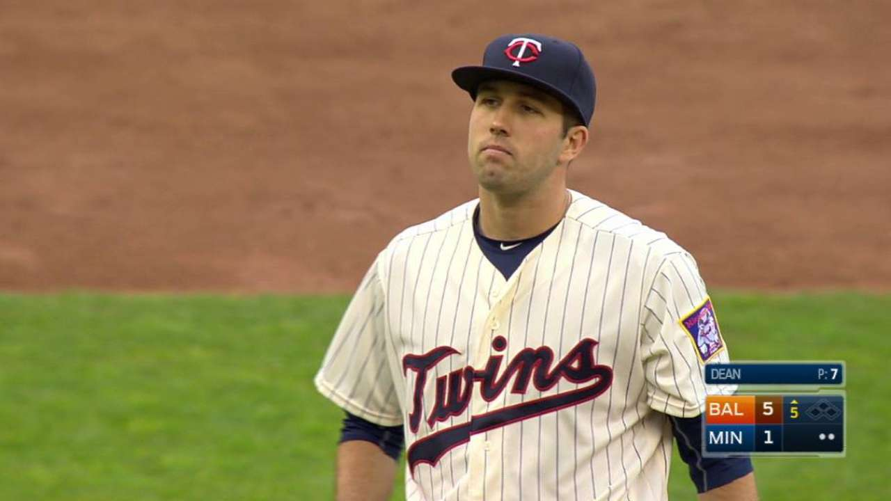 Dean makes MLB debut with emotions flowing