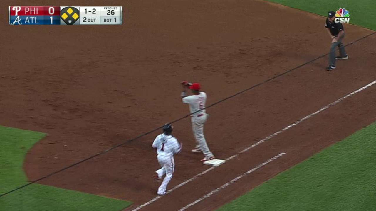 Eickhoff gets Aybar to end 1st
