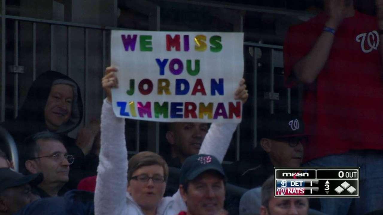 Zimmermann gets ovation