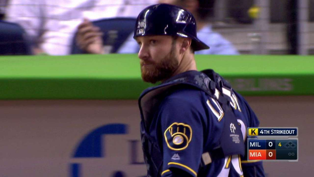 Brewers turn a double play
