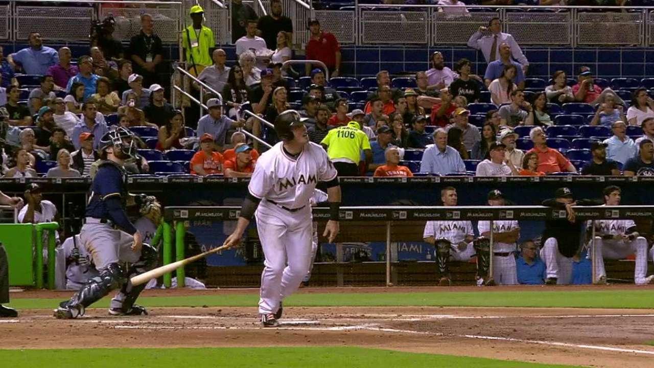 Bour's two-run home run
