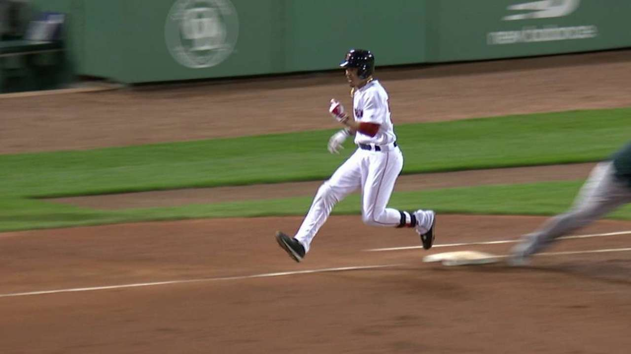 Semien throws out Betts