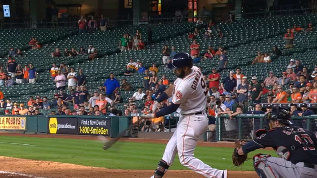Worth the wait! Gonzalez's walk-off HR lifts Astros in 16th
