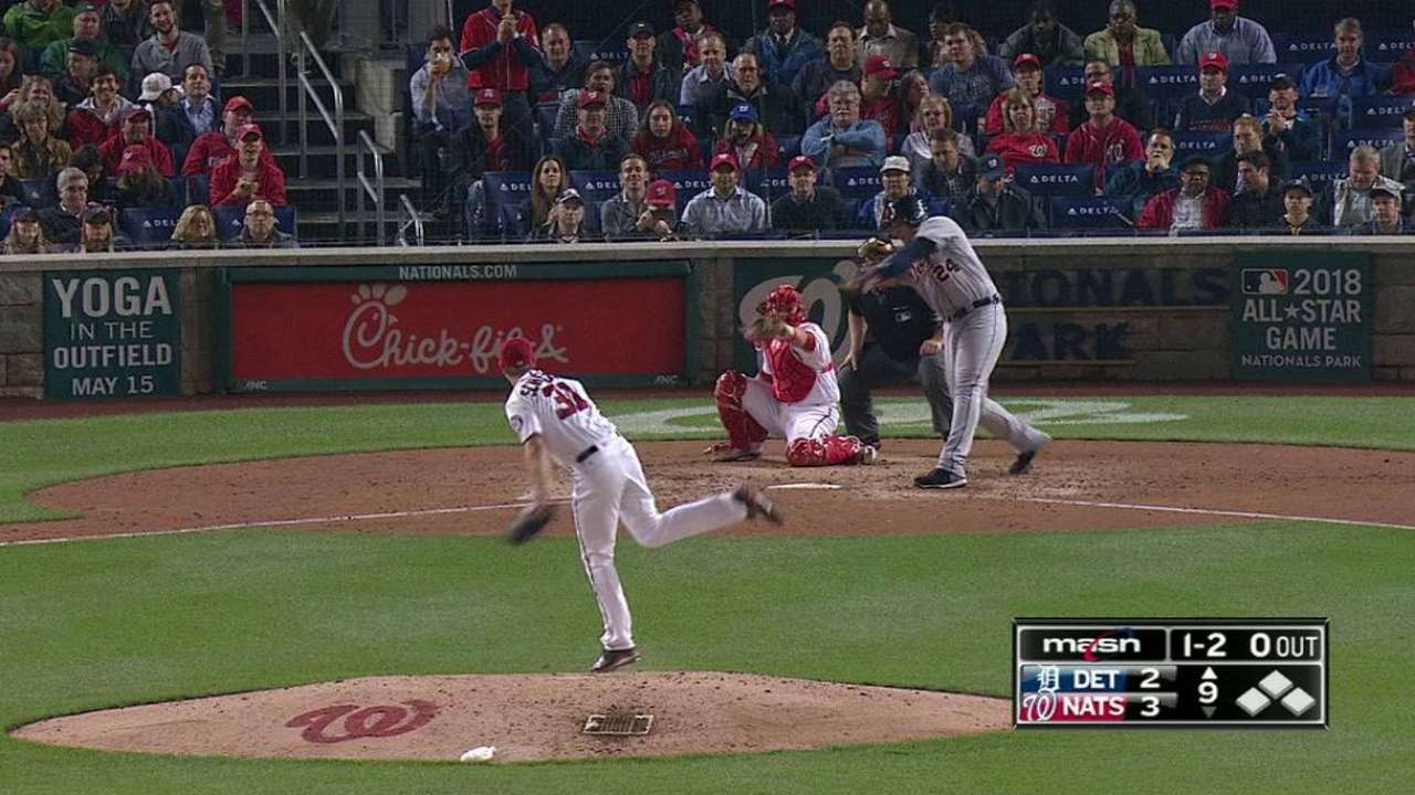 Scherzer's 19th strikeout
