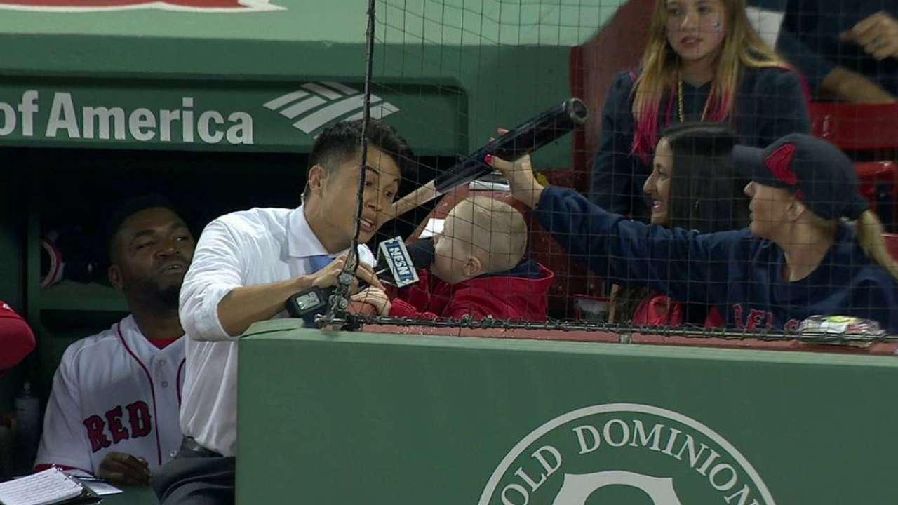 Maverick gets a bat from Ortiz
