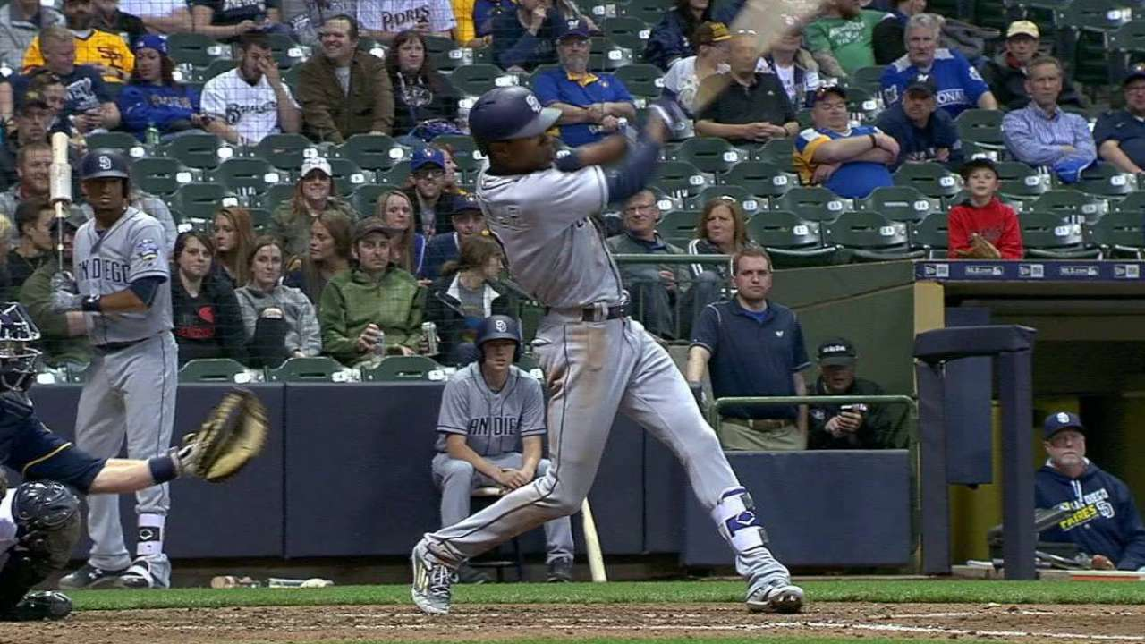 Upton's bat, speed at heart of Padres' offense