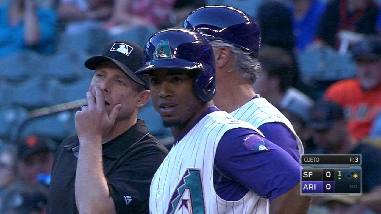 Segura's single extends streak