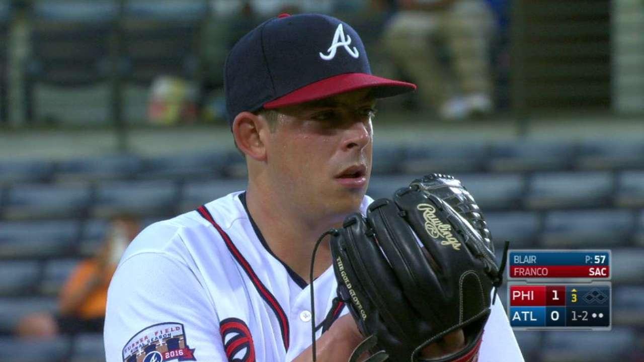 Blair sent down by Braves; Gant recalled