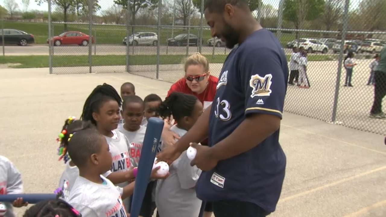 Kids get into swing of Play Ball with Crew
