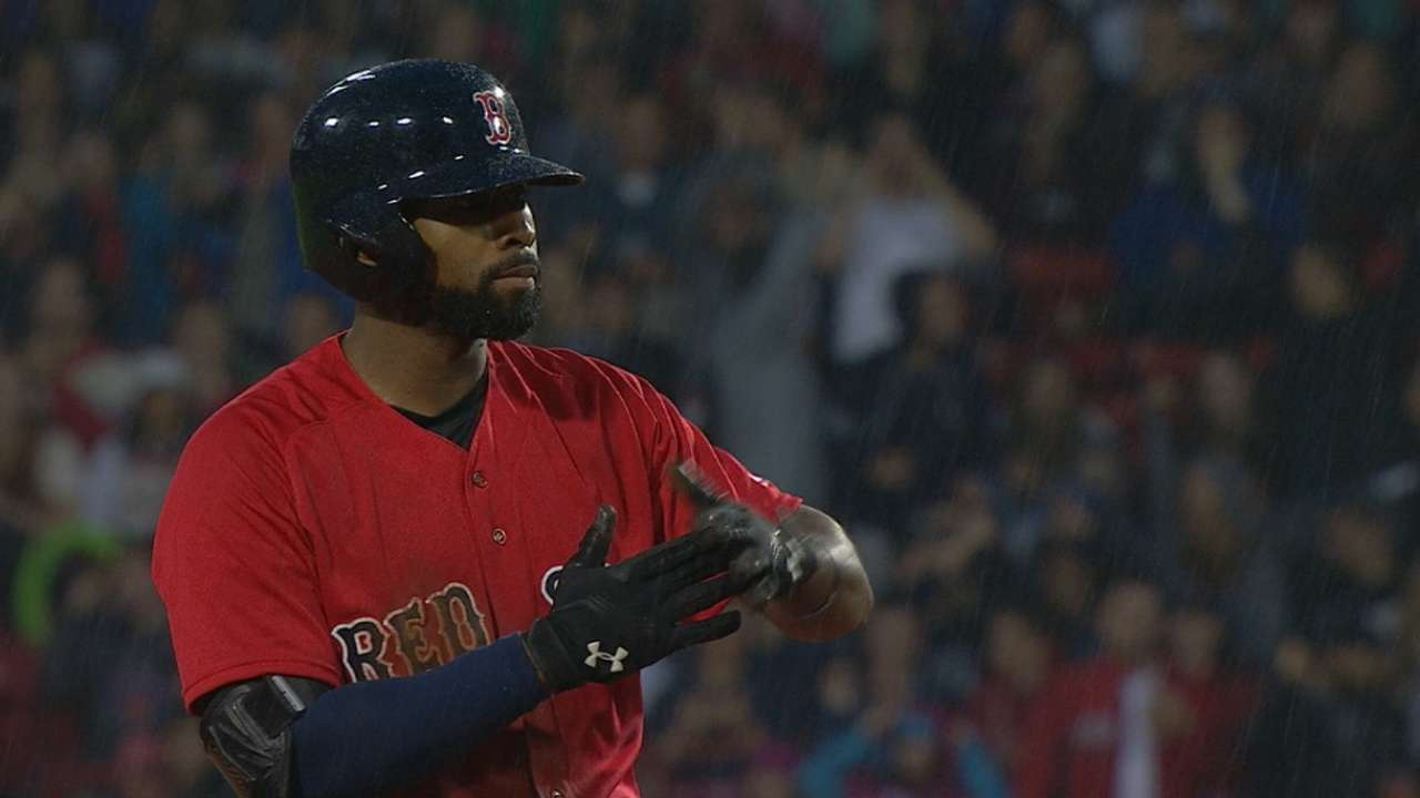 Red Sox strike for five in 2nd