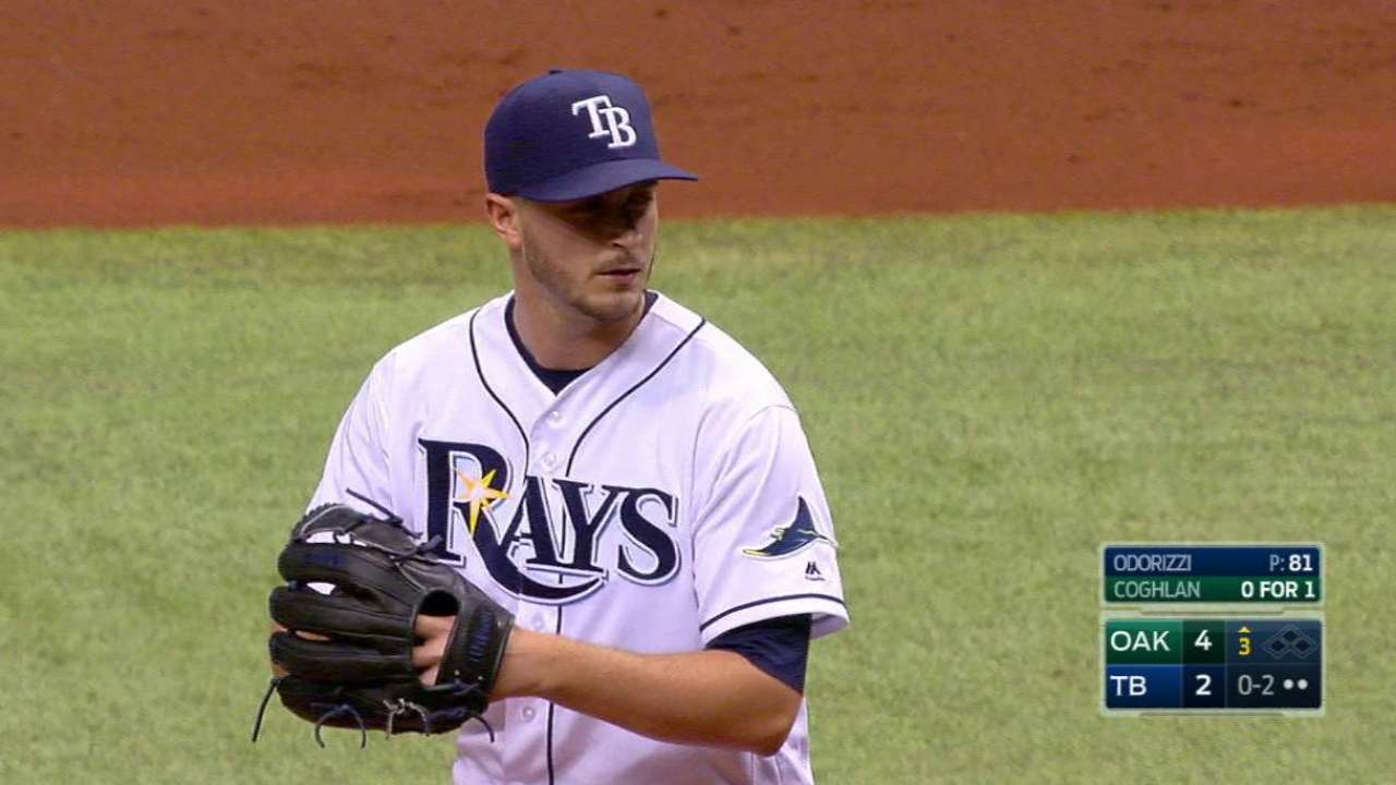 Homers bite Odorizzi for first time in 2016