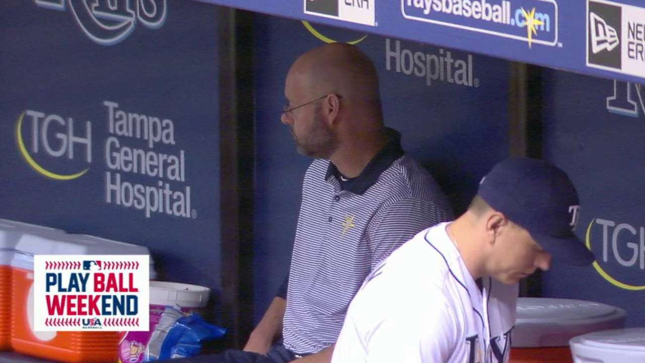 Rays treat lucky kids to clubhouse tour
