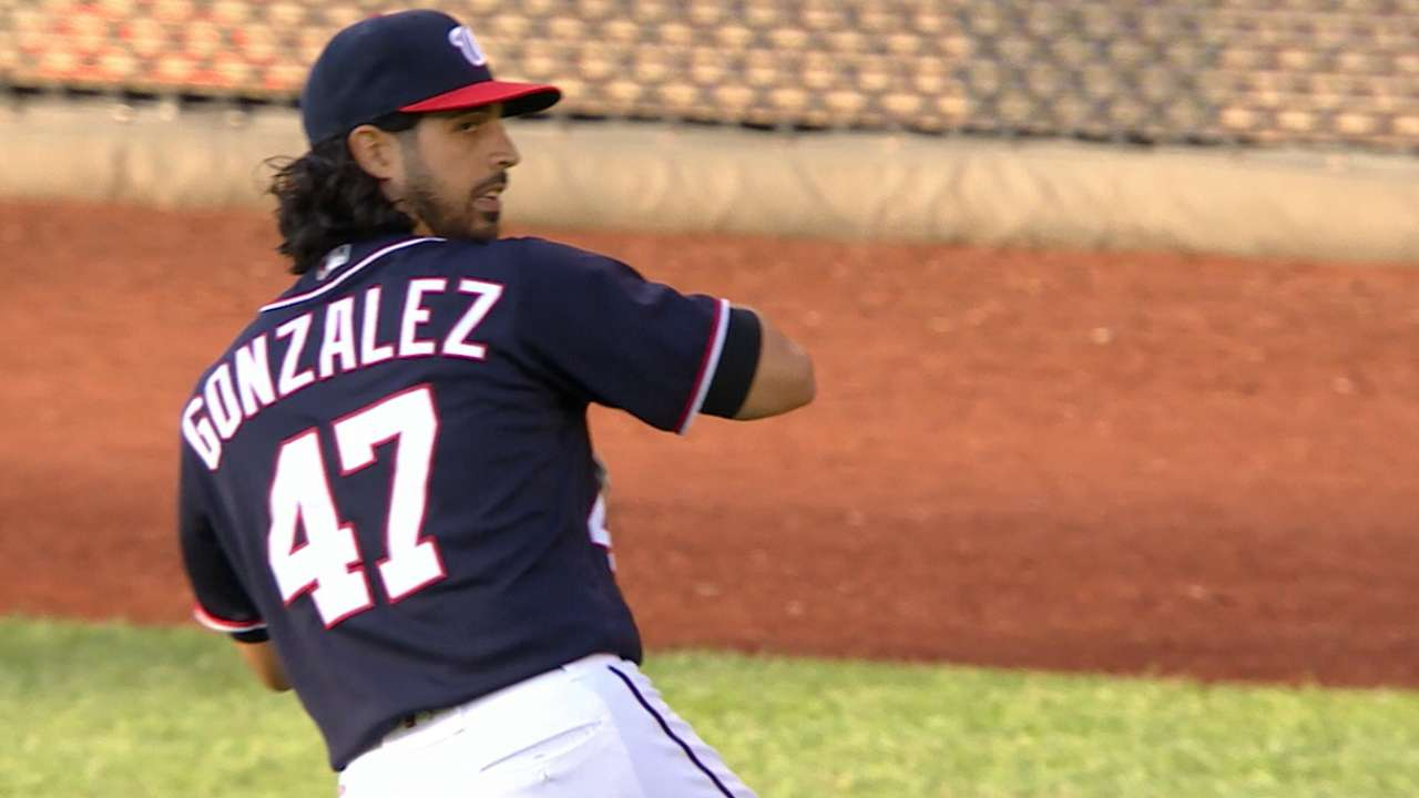 Gonzalez strikes out seven