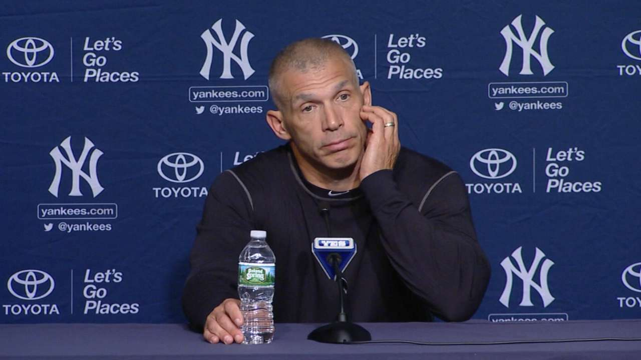 Girardi on Severino's injury