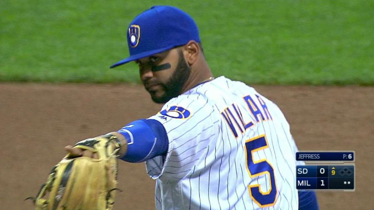 Brewers turn crucial double play