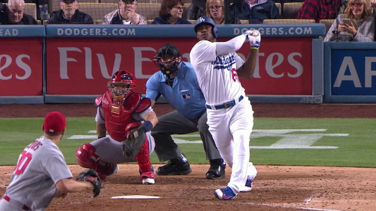 Puig working through frustrations at the plate
