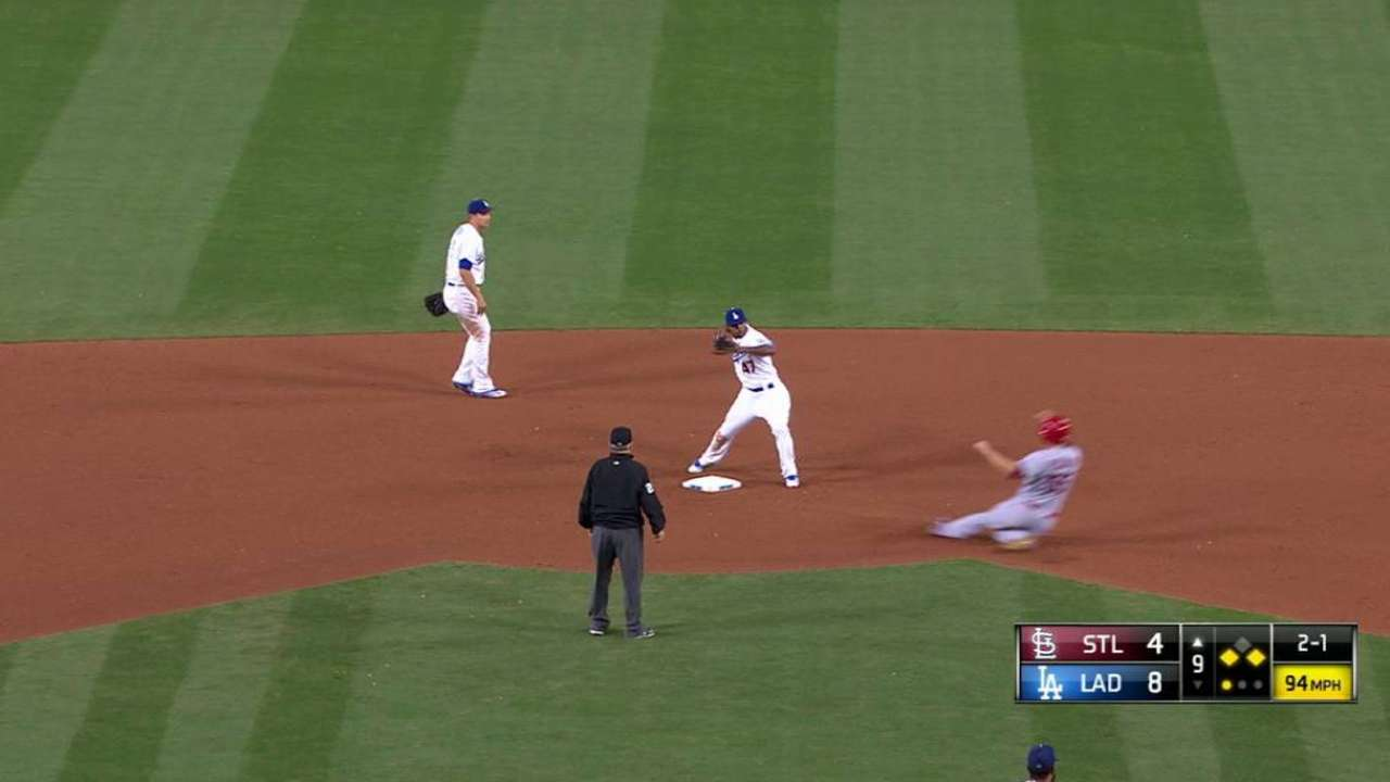 Dodgers turn a 6-4-3 double play