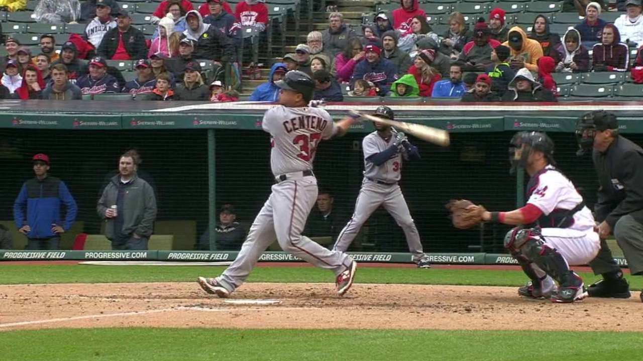 Twins snap skid with Centeno's shot