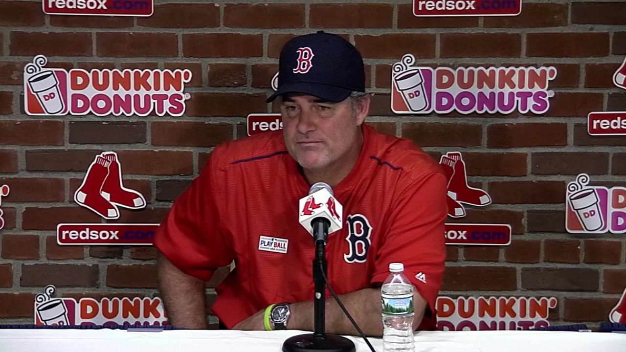 Farrell on Ortiz's big day