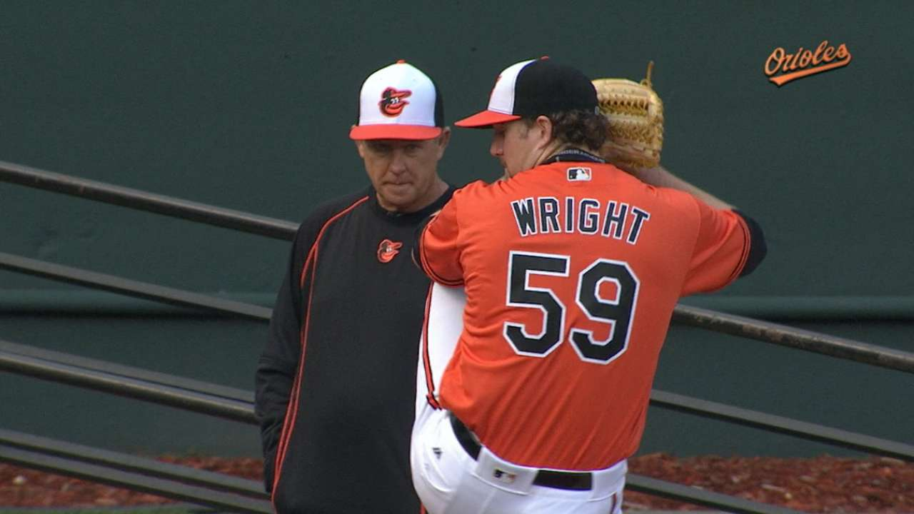 Wright's seven strong innings