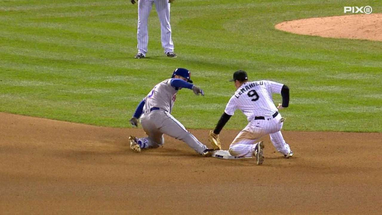 Wright's slide at second stands