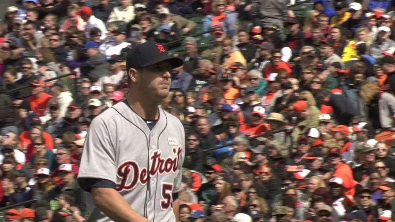 Saupold rejoins Tigers' bullpen