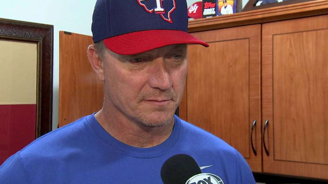 Rangers looking into Tolleson's struggles