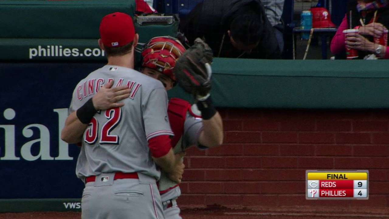 Cingrani collects the save