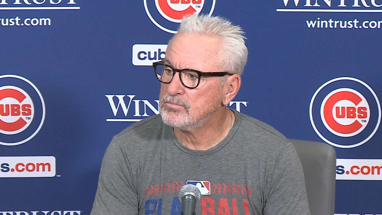 Maddon on pitchers' duel in loss