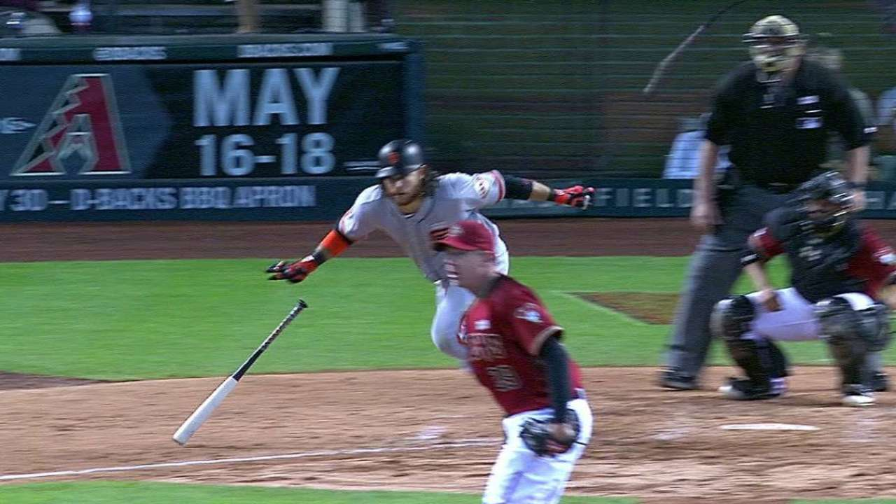 After further review, Giants sweep D-backs