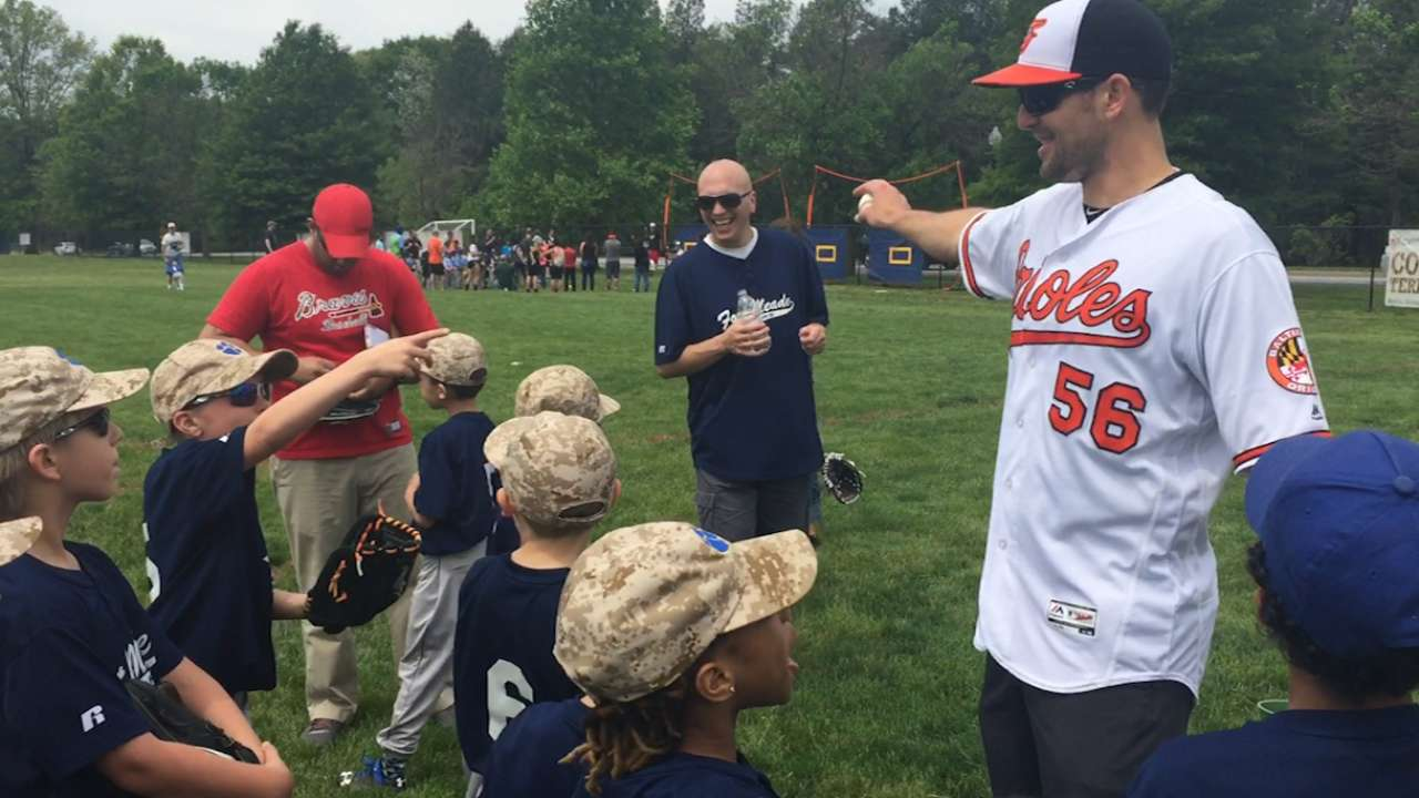 O's spread love of game through Play Ball clinics
