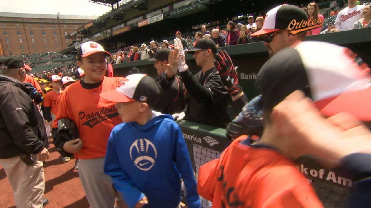 Play Ball puts kids on field to meet Orioles