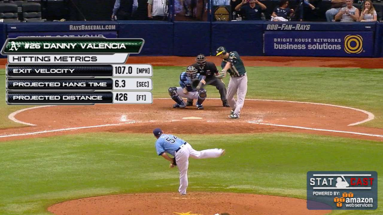 Valencia's 3rd HR rescues A's in series win