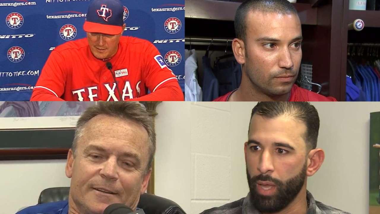 Blue Jays, Rangers on fracas