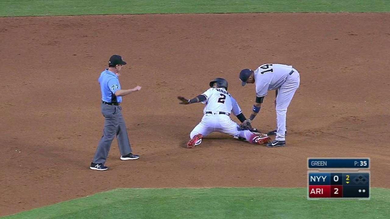 D-backs se sacuden mala racha y apalean a Yankees en casa