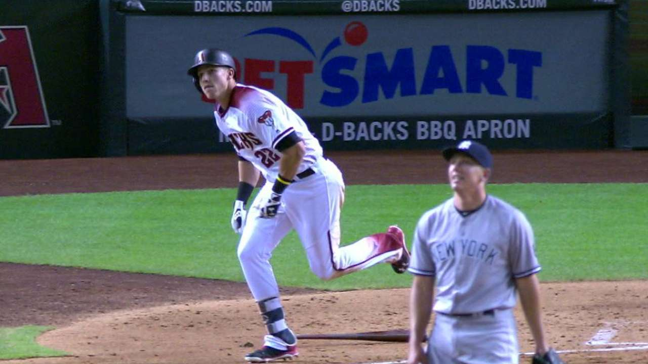 Lamb, D-backs roar past Yanks to end skid