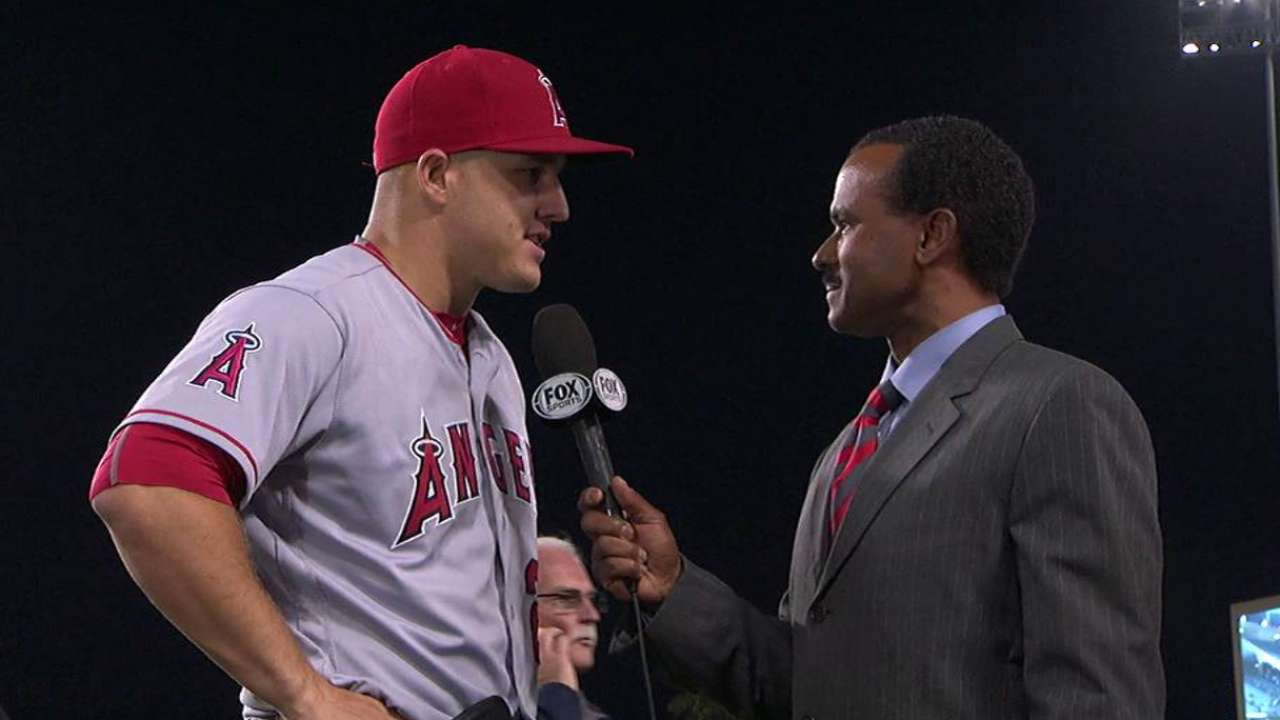 Trout on two RBIs, team win