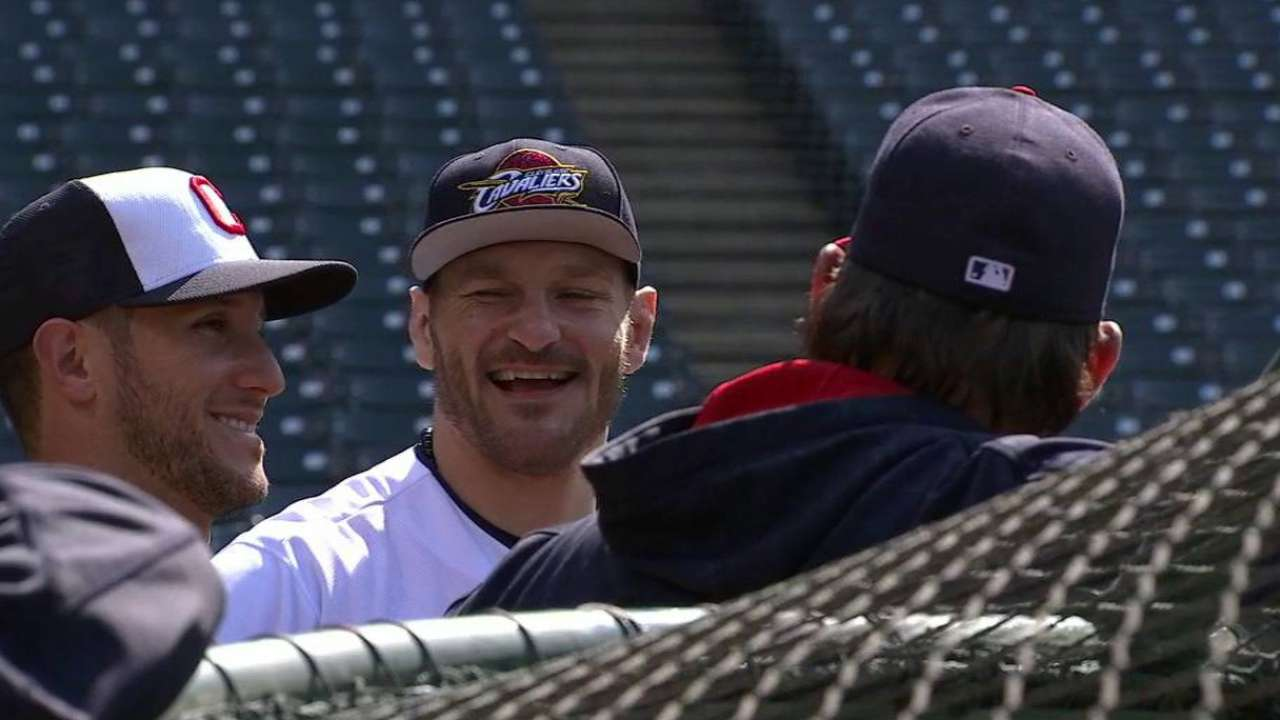 Miocic takes batting practice