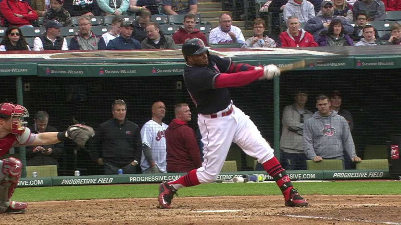 Tribe routs Reds with overwhelming offense