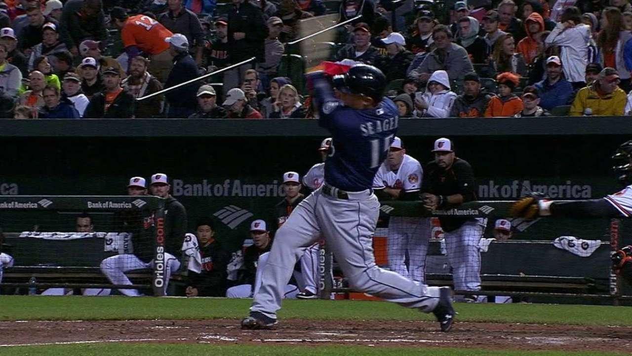 Seager's three-run homer