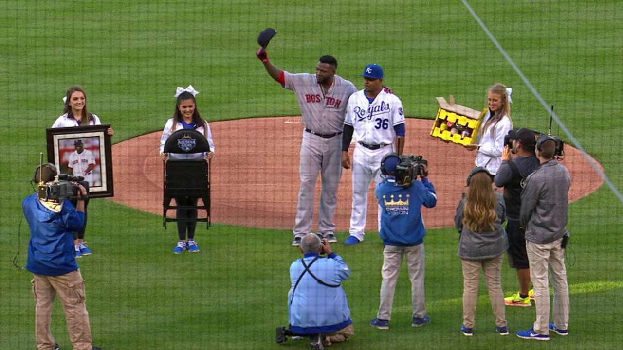 Papi honored by Royals