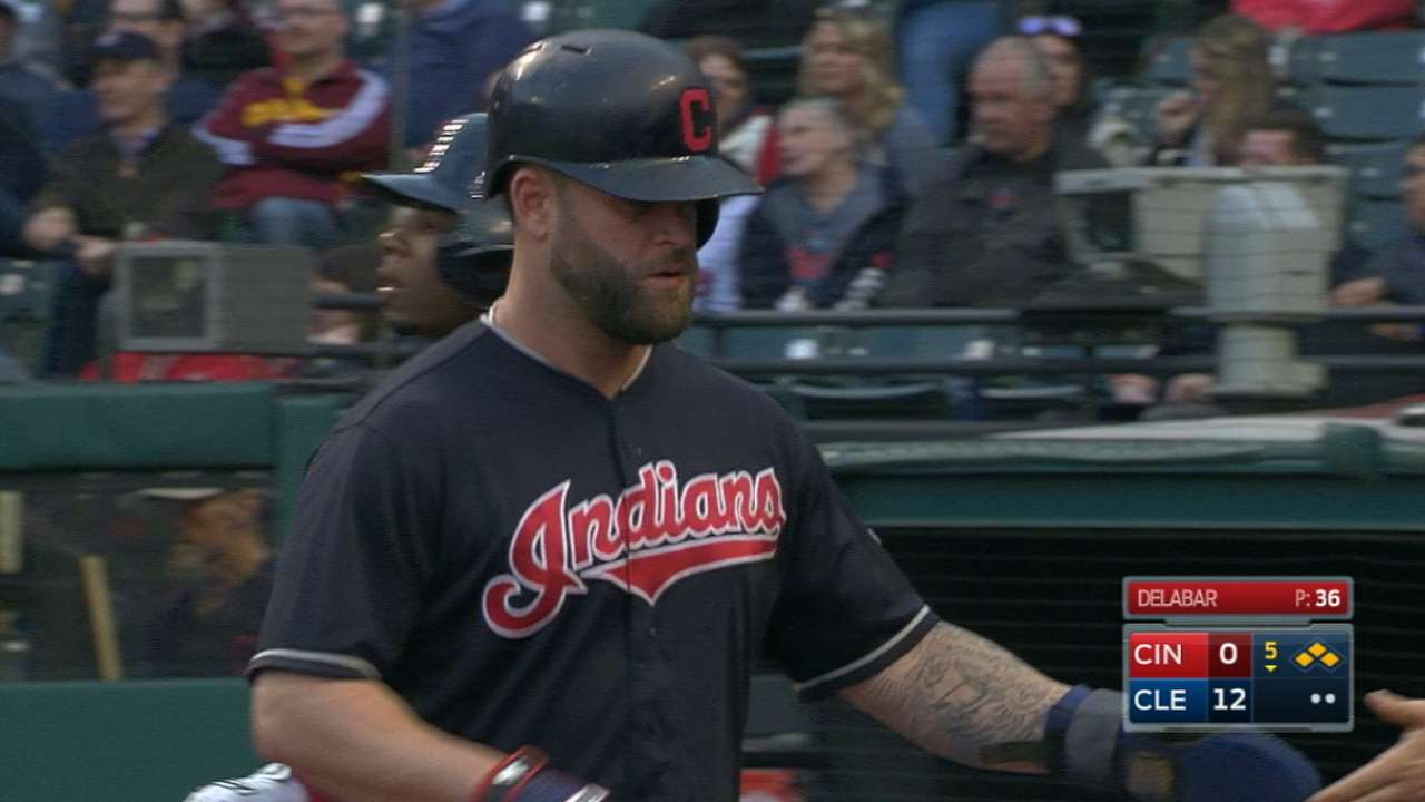 Indians' five-run 5th