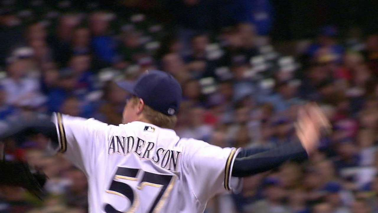 Anderson strikes out Rizzo