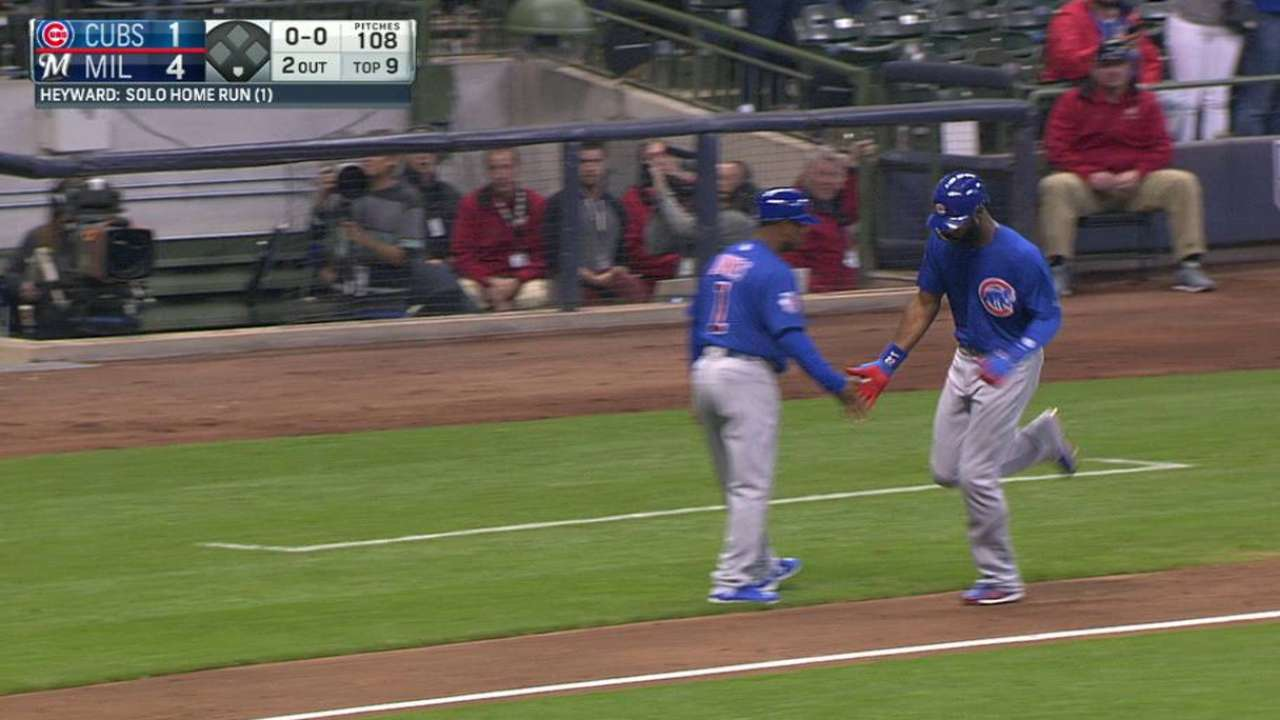 Heyward tweaks timing for first HR with Cubs